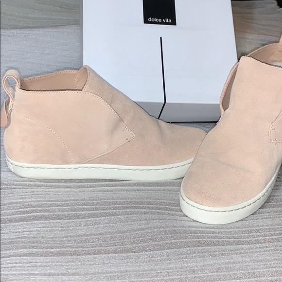 Tate Sneakers Blush Suede   Poshmark